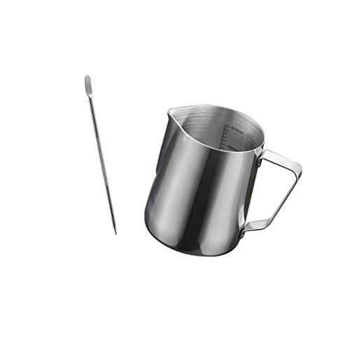 Barista 1 Licht (Sharplace Edelstahl Kaffee Schaum Milch Tee Latte Krug + Kaffee Latte Kunst Pen)