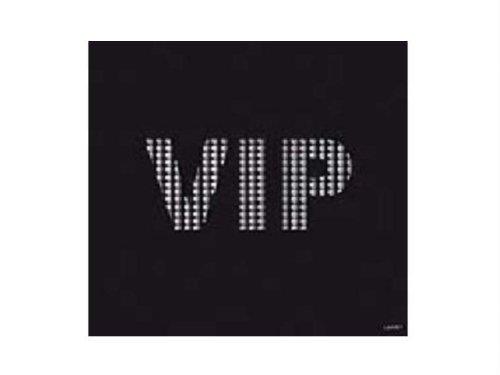 20 serviettes papier jetables 25x25cm, en intissé, VIP noire