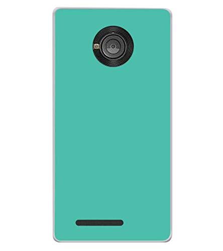 Bluethroat Plain Flourscent Light Blue Colour Background Designer Printed Soft Silicone Mobile Case Back Cover for Yu Yuphoria YU5010