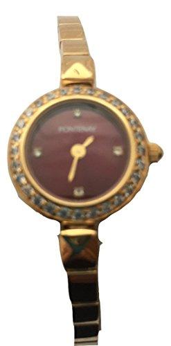 fontenay-granate-piedra-de-la-mujer-dial-18-kt-chapado-en-oro-reloj-de-pulsera