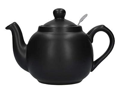 London Pottery Théière avec filtre 2 tasses Noir