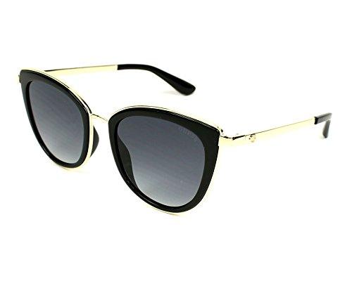 Guess Unisex-Erwachsene GU7491 01B 52 Sonnenbrille, Schwarz (Nero Lucido/Fumo Grad),
