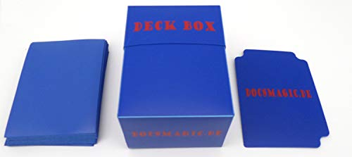 docsmagic.de Deck Box + 100 Mat Blue
