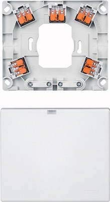 Preisvergleich Produktbild Merten Herdanschlussdose MEG1011-9019 AP mit Steckkl.grau Geräteanschlussdose 4042811212155