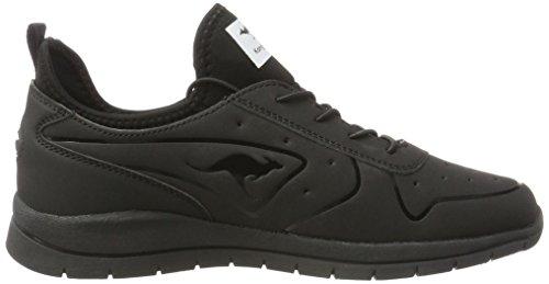 Kangaroos  Oge, chaussons d'intérieur mixte enfant Schwarz (All Black)
