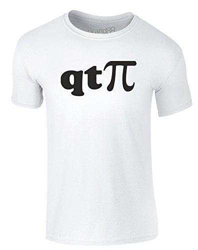 Brand88 - I'm a Cutie Pie, Erwachsene Gedrucktes T-Shirt Weiß/Schwarz