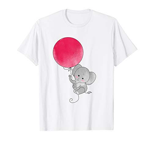 Design Kinder T-shirt (Süßer Elefant Ballonflug Retro Kinder Design T-Shirt)
