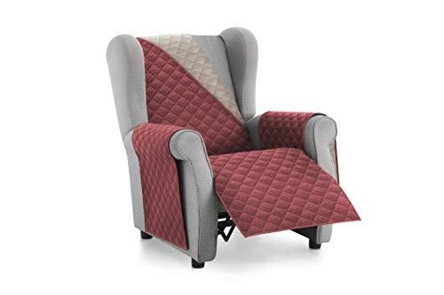textil-home Salvadivano Copripoltrona Trapuntato Malu - Relax / 1 posti - REVESIBLE. Colore Rosso