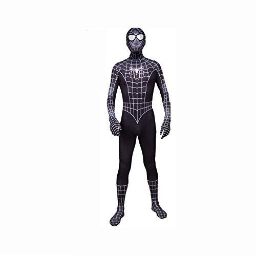 KYOKIM 3D-Digitaldruck Zentai Spider-Man 3 All-Inclusive-Strumpfhose Spider-Man Halloween-Kostüm Cosplay,Adult-S