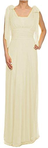 Brautkleid elegant für Hochzeit lang Standesamtkleid One-Shoulder-Kleid Empire-Kleid Chiffonkleid...