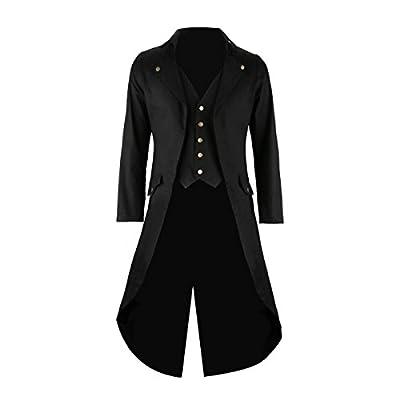 Chaqueta steampunk para Caballero, Traje gótico, Negro, chaqueton steampunk, chaqueta gotica