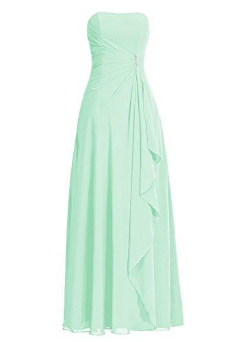 Dresstells, robe de soirée sans bretelles, robe longue de cérémonie, robe de demoiselle d'honneur Menthe