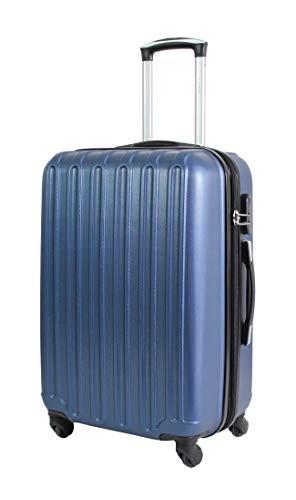 Valise Taille Moyenne 65cm - ALISTAIR Sécure - ABS Ultra légère et résistante - 4 Roues - Couleur spéciales - Marque française - Bleu Marine