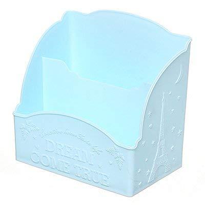MEIDI Home Der multifunktionale Kunststoff-Multi-Format-Desktop, die Living Room Remote Control-Aufbewahrungsbox für Kosmetik, um Zwei Körbe im Blau zu organisieren -