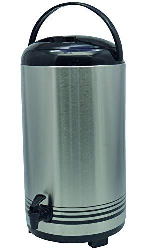 Saro ISOD 12 Getränke-Dispenser, Edelstahl, Silber, Durchmesser 23 x Höhe 42 cm -