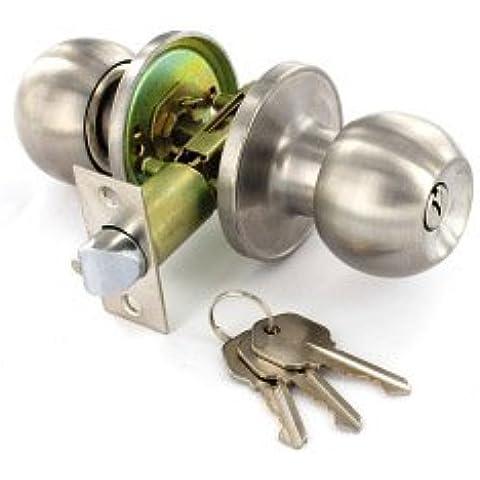 Acero inoxidable Entrada Lock Set con 3 llaves de 60mm / 70mm