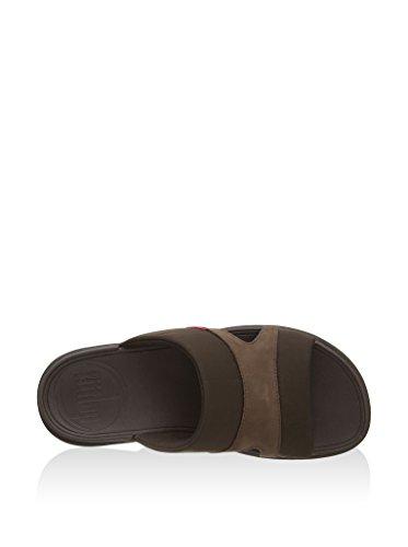 Fitflop–FREEWAY II en textile, Sandales élégantes pour homme Marrone(Chocolate)