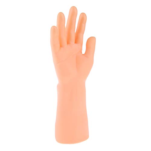 perfk 4 Colors, Vinyl Realistic Male Mannequin Hand For Display, Outstanding balance and stability on platform