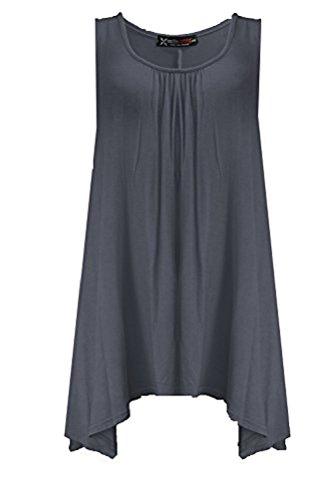 Fashion 4weniger Damen Plus Größe Slouch Fit Weste Top Grau - Grau