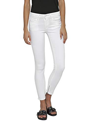 Replay Damen LUZ Ankle Zip Skinny Jeans, Weiß (White 1), W25/L32 (Herstellergröße: 25) -