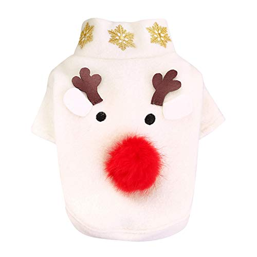 Hunde Legged Zwei Kostüm - Maritown Pet White Herbst Winter Weihnachten Cosplay Kostüm Hund Rentier 2 Legged Holiday Apparel Outfit Dress Up Kleidung