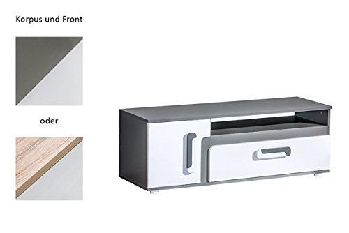Lowboard 20864 TV-Unterschrank TV-Element 120cm Korpus wählbar / weiß