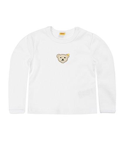Steiff Unisex - Baby Sweatshirt 0006671 Weiß (Bright White) 68