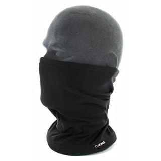 Gwinner Combo II Skimaske Kälteschutz Gesichtsmaske - 2 Stoffschichten (Schwarz, L/XL)