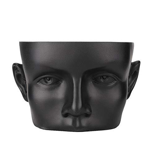 Neufday High-End Resin Head Modell Porträt Schmuckständer Schmuckständer Brillenständer Kopfhörer Anhänger Zähler Lagerung Schmuck Neue Brillenständer Sonnenbrillen Vitrine(Schwarz)