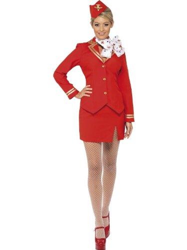 Trolley Dolly Kostüm Stewardess Flugbegleiterin, (Dolly Trolley Kostüm)