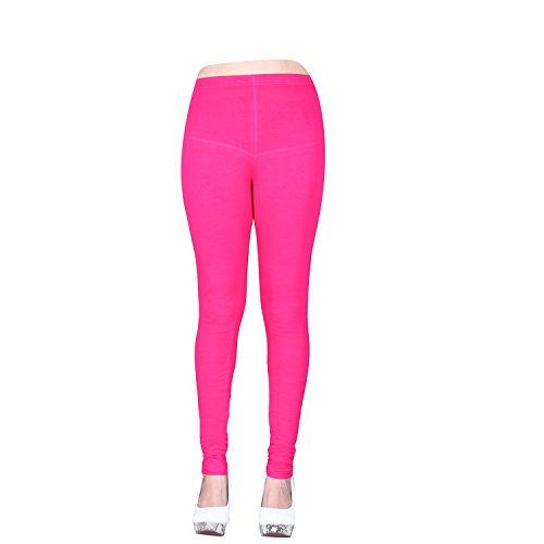 Vatsla Women\'s Cotton XL Leggings( Leggingsxl037_RANI PINK_ COLOUR )