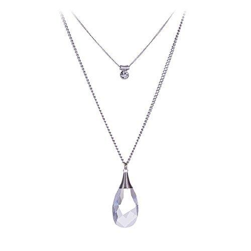 multi-couche-collier-pendentif-chaine-goutte-deau-cristal-quartz-transparent-double-couche