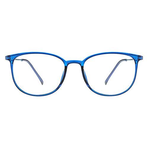 Zhuhaixmy Klassische Nerdbrille,Modische Leicht Rahmen Brillenfassung Klare Linse Vintage Brille...