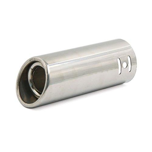 Sourcingmap 48mm Einlass Silber Ton Schwanz Throat Rohr SUV Truck Oval Auspuff Schalldämpfer Trim Spitze