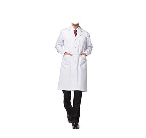 WDF laborkittel kittel medizinische kittel weiß arztkittel weiße herren langärmelige lange unterabschnitt button handschellen (Krankenschwester-uniform-schuhe)