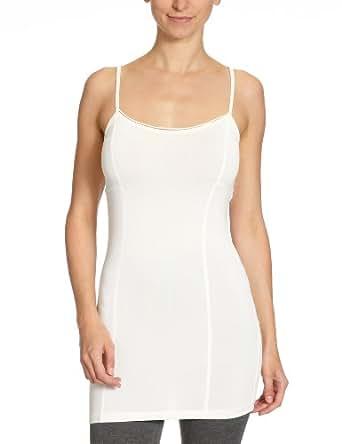 VERO MODA Damen Top, 10083833 Sabi Long Singlet, Gr. 42 (XL), Weiß (SNOW WHITE)