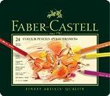 Faber-Castell Knstlerfarbstifte POLYCHROMOS, farbig sortiert im 24er Metalletui