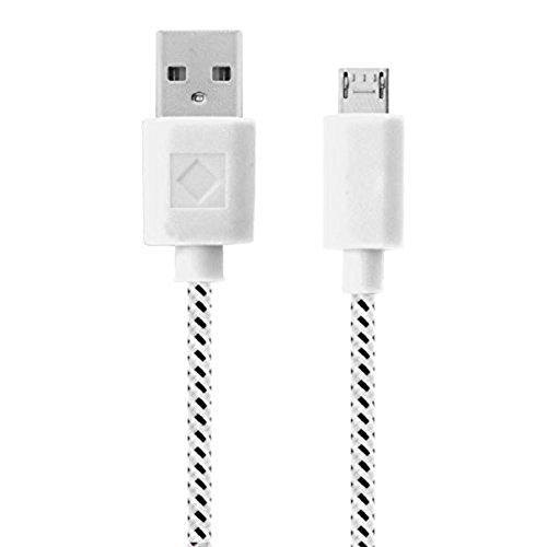 Scrox 1M Datenkabel Micro USB Kabel USB 2.0 A auf Micro B Ladekabel Daten Sync Extra langes robustes Nylongewebe für Tablets,Samsung, HTC, Sony, Nexus, LG, Huawei,Sony, Kindle und alle anderen Geräten mit Micro USB 2.0 Anschluss (Weiss) - Aluminium-sicherheits-geldbörse