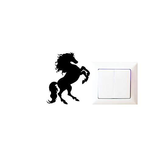 os Wütend Tier Küche Vinyl Aufkleber Dekor Schöne Tierwand Lebendige Cartoon Schalter Aufkleber, Schwarz ()