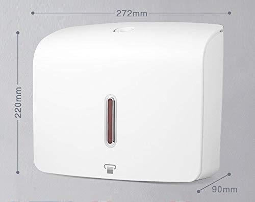 NBE Wc Papier Halter hängenden Hotel Handtuch Tissue Box - Freie Bohren Küche Toilette WC Papier Handtücher Pumpen Kartons (Farbe: weiß) (Papier-handtuch-halter Hängende)