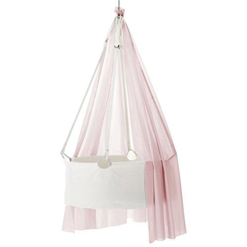 Preisvergleich Produktbild Schleier Himmel für die Leander Babywiege Wiegenschleier soft pink