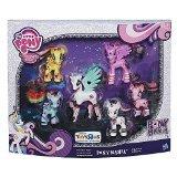 My Little Pony - Friendship is Magic - Pony Mania Collection - 6 Pack - Fluttershy, Rainbow Dash, Princess Celestia, Princess Twilight Sparkle, Pinkie Pie & Rarity