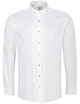 Almsach Trachtenhemd Julian Regular Fit mit Biesen in Weiß Inklusive Volksfestfinder