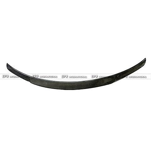 Fibre de carbone de type C Style de coffre Coffre arrière Couvercle lèvre Spoiler Aile Canard à bec pour Mercedes Benz W205Classe C