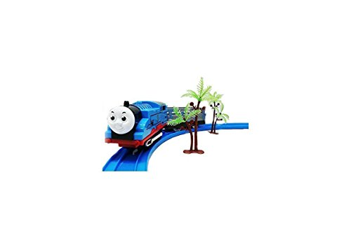 Kiditos Tomas & Friends Battery Operated Train Track Toy Set With Sound And Flashing Headlights