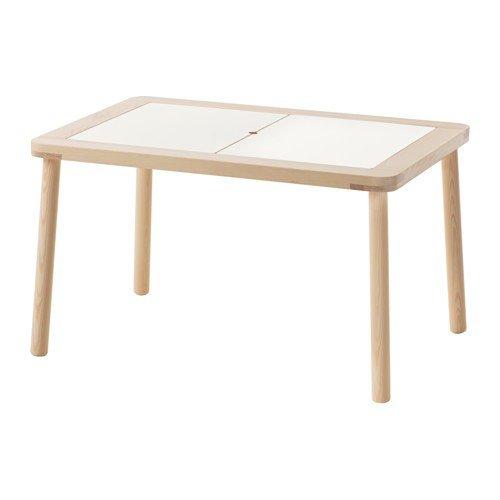 IKEA FLISAT Kindertisch aus Massivholz; (83x58cm)
