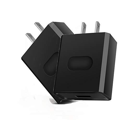 ZUEN 2PackWall-Ladegerät, USB-Ladegerät Cube Tragbarer Reisestecker für iPhone XS/XS Max/XR/X / 8/7/6 / Plus iPad Pro/Air 2 / Mini 2 Galaxy9 / 8/7 Hinweis9 / 8 LG Plug Netzstecker,B