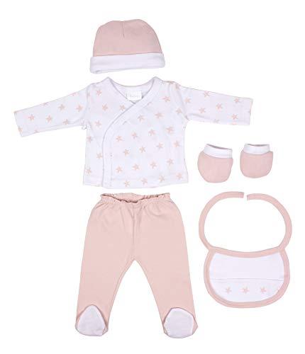 DIKOS Baby Erstausstattung für Neugeborene Mädchen Set rosa Erstlingsausstattung Ausstattung Kleidung Baby Geschenke Geburt Babykleidung Neugeboren Sterne Babyausstattung (Versand Kostenloser Baby-mädchen-kleidung)