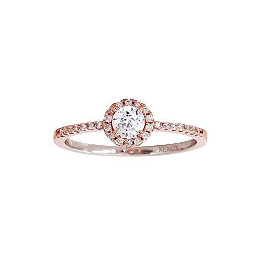 XENOX Schmuck Damen Ring SILVER CIRCLE Rosé 925 Silber Rosé