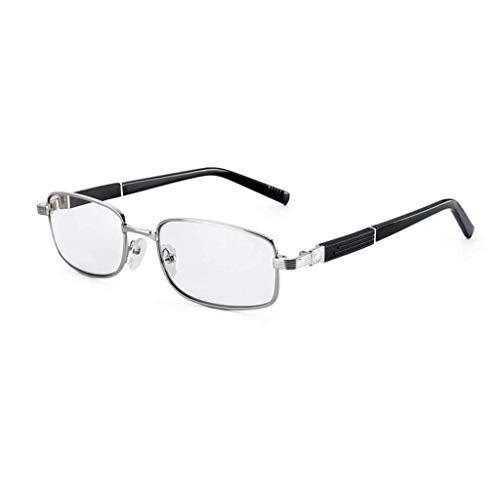 ANAI Hochwertige Metall Lesebrille für Männer und Frauen Retro optisches Glas HD tragbare Lesebrille (Size : +1.5)
